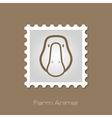 Goose stamp Animal head vector image