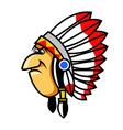 Grumpy Indians vector image