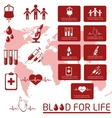 Blood donor Icon set vector image