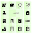 14 check icons vector image vector image