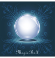 3d magic ball vector image
