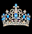 a crown diadem female with precious stones on a vector image vector image
