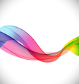abstract rainbow waved lines background vector image
