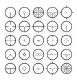 aim icon set various abstract target vector image vector image