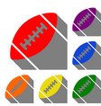 american simple football ball set of red orange vector image vector image