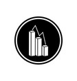 analytics flat icon vector image