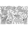 animal coloring page vector image vector image