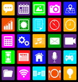 Application colorful icons on black background vector image
