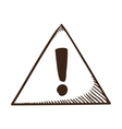 Attention triangle symbol vector image