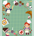 baking concept background vector image vector image