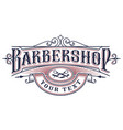 barbershop logo design on white background vector image vector image
