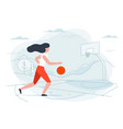 basketball girl player vector image vector image