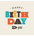 birthday card letterpress vector image