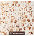 brown abstract watercolor hand made background vector image vector image