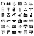 building department icons set simple style vector image vector image