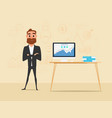 businessman crossed his arms with business vector image vector image