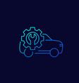 car repair shop line icon vector image vector image