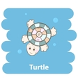 Cartoon cute turtle vector image vector image