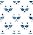 cat face pattern on white vector image vector image