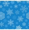 Christmas seamless pattern with snowflakes on blue vector image