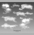 clouds set collection realistic vector image