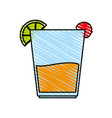 color crayon stripe image cartoon glass cup of vector image vector image