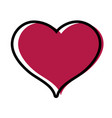 color cute heart sign love decoration design vector image vector image