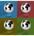 Color set World map web icon flat design vector image