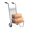 courier trolley vector image vector image
