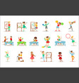 creative children practicing different arts and vector image vector image