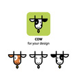 Cute cow icon vector image vector image