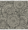 decorative doodles seamless pattern vector image vector image