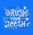 dental lettering design vector image