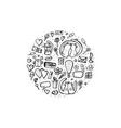 doodle set of love symbols vector image vector image