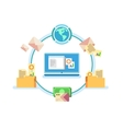 Electronic document management vector image vector image