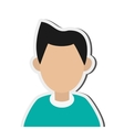 faceless man portrait icon vector image vector image