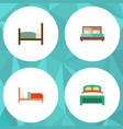 flat bed set of furniture bearings bed and other vector image vector image