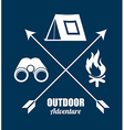 forest camping design vector image