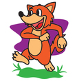 Fox Walking vector image vector image