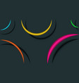 geometric background minimal style multicolored vector image vector image