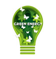 green energy concept in paper vector image vector image