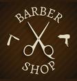 Hairdresser barber shop poster vector image vector image