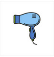 hairdryer icon sign on white background vector image vector image