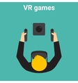 home gaming in virtual reality vector image vector image