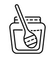 honey jar icon outline style vector image vector image