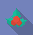 Icon of Christmas Holly Berry Flat style vector image vector image