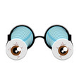 isolated funny glasses vector image vector image