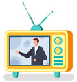 journalist or tv show host television broadcast vector image