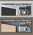 layouts for consumer electronics vector image vector image