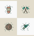 logging and lumberjack with beard concept vector image